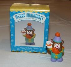 HALLMARK Merry Miniatures Charm Happy Birthday Clown Collectors Series 1997 - $10.70