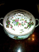 Crown Staffordshire China PAGODA Round Covered Vegetable Bowl EXCELLENT - $98.99