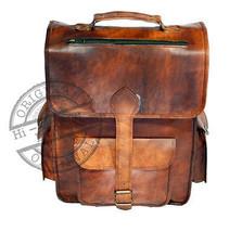 """Vintage Leather Outdoor Travel Hiking Backpack Laptop Bag 16"""" GLB Bag - $63.22"""