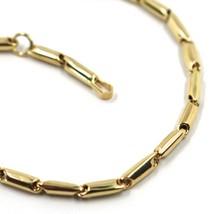 """18K YELLOW GOLD KIDS BRACELET ROUNDED ALTERNATE TUBE LINKS, length 16.5 cm 6.5"""" image 2"""