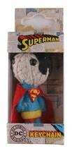 """Dc Comics 2.5 """" Superman Corde Poupée Porte-Clé Voodoo Breloque Téléphone Figure image 2"""