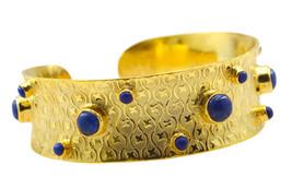 Multi Gold Plated Glass grand Multi Gemstone usual Bangle AU gift - $20.45