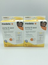 2 X Medela Pump & Save Breastmilk Bags 20ct and 2 Adapters SEALED Lot of 2 - $13.09