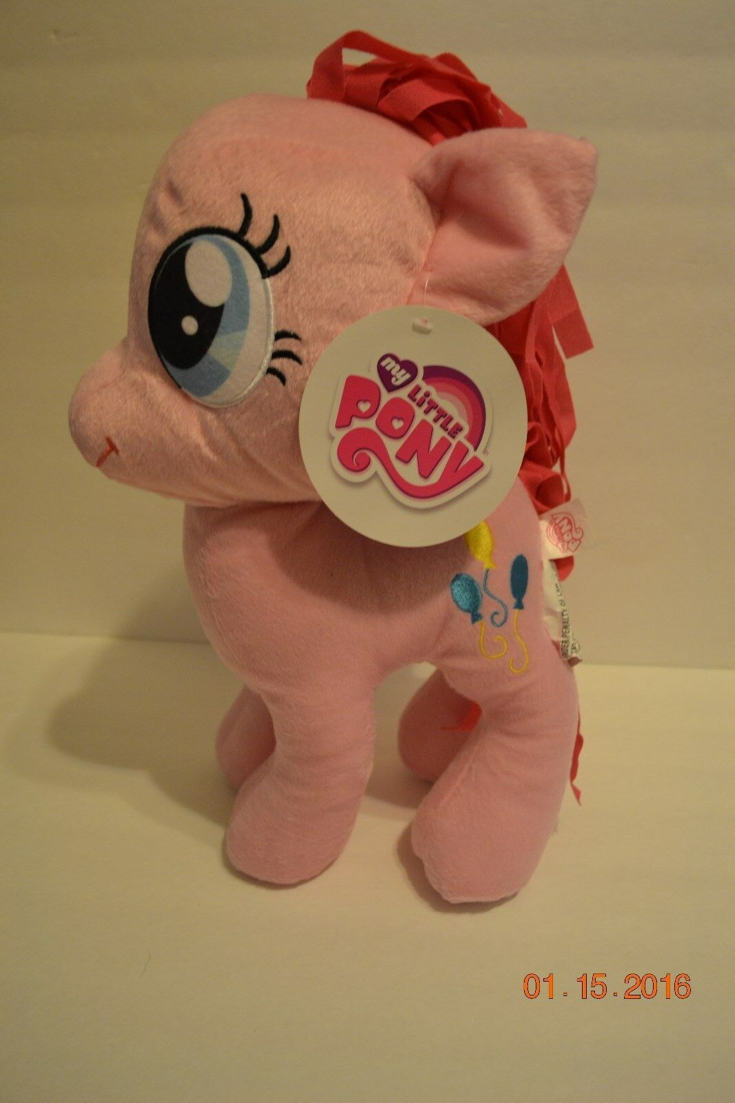 "Primary image for My Little Pony Cuddle Pillow Pinkie Pie 16"" Stuffed Plush - NWT"
