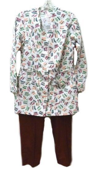 Scrub Set Mixed Lot Leaves Jacket Cinnamon Scrub Pants Bottoms Small New image 12