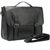Men's Vintage Briefcase Laptop Case Shoulder Messenger Work Bag PU Leath... - $42.03