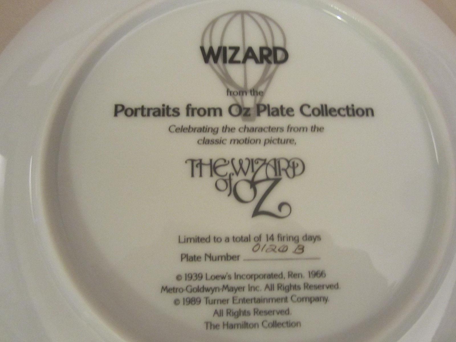 WIZARD collector plate WIZARD OF OZ PORTRAITS Thomas Blackshear