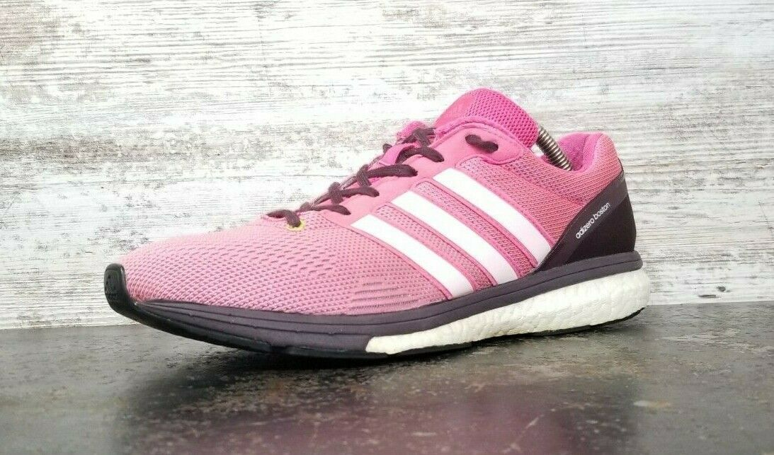 Primary image for Womens Adidas Boston Boost Running Shoes Sz 9.5 42 B Used S78214