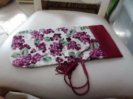 wine bottle cover gift bag burgundy with grapes from Wrap Art - $7.50