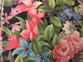 "Colorful Flower Mix Valance HaNdMaDe Window Topper Cotton fabric 43""W x ... - $14.84"