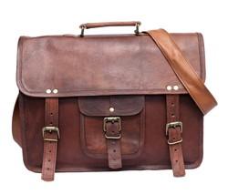 """New Men's 100% Real Leather 15"""" Look Office Formal Shoulder Messenger Br... - $73.75"""