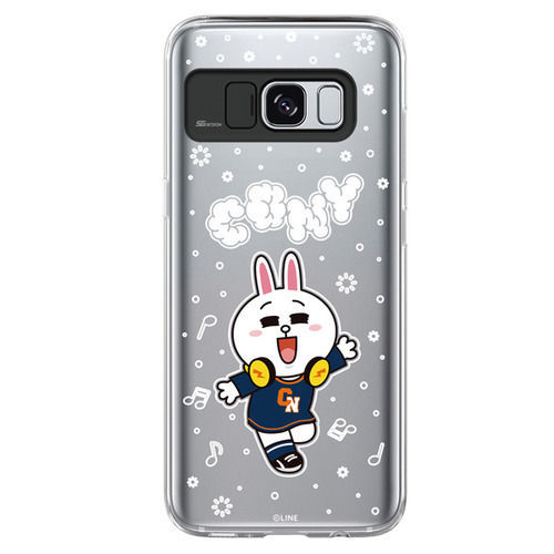 LINE Friends Beat BROWN Lighting Case V.1 Galaxy S8 / S8+ Mobile Skin Cover Acc