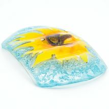 Fused Art Glass Sunflower Flower Design Soap Dish Handmade Ecuador image 4