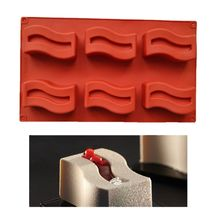 Bend the Rectangle 3D Cake Mousse Mold Silicone Chocolate Mould Art Pan ... - $13.09