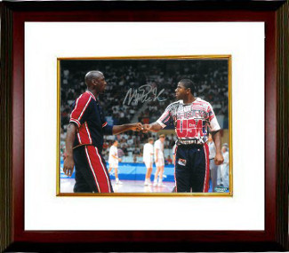 Primary image for Magic Johnson signed Team USA Olympic Dream Team 16x20 Photo Custom Framed (fist