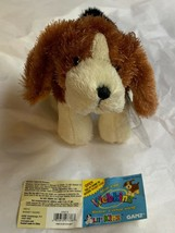 Ganz Webkinz Shaggy Brown White Basset Hound Puppy Dog Stuffed Plush Ani... - $14.85