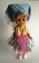 """Vintage Folk Doll Handmade Ethnic Costume 13.5 """" Tall Resin Blinking Eyes - $11.57"""