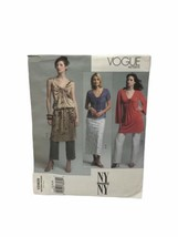Vogue V2809 Misses Tunic Top Skirt Pants Sewing Pattern Size 12 14 16 - $10.88