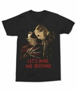 Lets Make Bad Decisions Black Horror Movie Graphic-Print T-Shirt 2XL    ... - $14.80