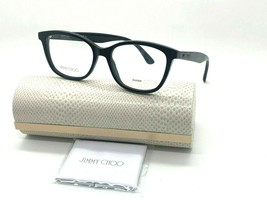 Jimmy Choo Eyeglasses Jc 188 NS8 BLACK/GLITTER 52-17-140MM Italy Case& Cloth - $77.43