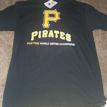 NEW MENS PITTSBURGH PIRATES FIVE TIME WORLD SERIES CHAMPIONS T-SHIRT SIZE M - $17.65