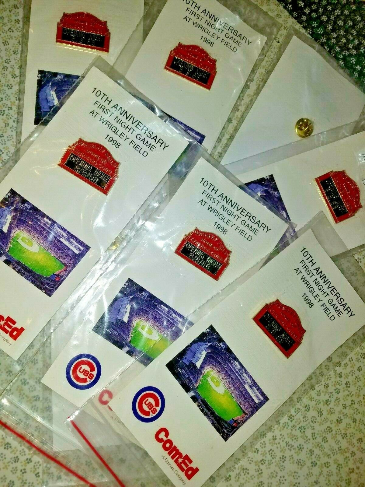 10th Anniversery 8-8-88 Chicago Cubs SGA pin 1st night Game