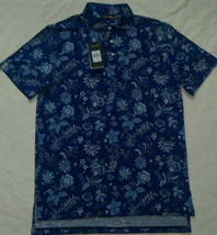 New Mens Ralph Lauren RLX Short Sleeve Floral Polo Shirt Size M Navy/Mul... - $60.00