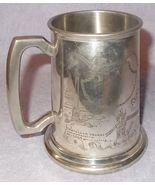 Vintage London England Pewter Souvenir Tankard Mug Etched Sheffield Craf... - $19.95