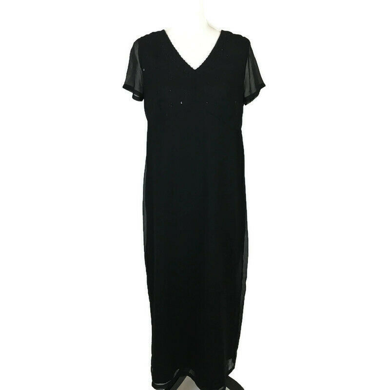 Motherhood Maternity Women's Dress Size Small Black Cocktail Maxi