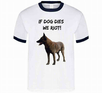 If Dog Dies We Riot Walking Dead T-shirt Daryl Dixons Canine Partner Support Tee