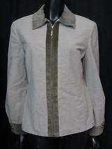 St John Sport Zip Front Cotton Blend Women's Jacket S - $26.18