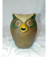 VINTAGE HOOT OWL STONEWARE PITCHER AND  CERAMIC HAND PAINTED BARN OWL F... - $6.76