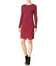 Kensie Women's Stretch Striped Scissor-Hem Sheath Dress Small S Red Wine $69 - $24.32