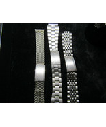 3 1970'S STAINLESS STEEL WITTNAUER WATCH BANDS FOR REPAIR KESTENMADE CHA... - $525.00