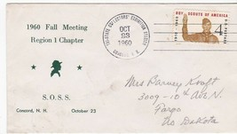 BOY SCOUTS 1960 FALL MEETING REGION 1 CHAPTER CONCORD, NH OCTOBER 23 1960  - $1.98