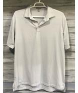 Peter Millar Summer Comfort Sz XL Men Golf Polo Shirt Gray Black Stripe - $16.78