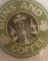"Guns & Coffee Patch  3.5 "" Circle - $7.99"