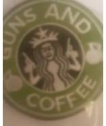 "Guns & Coffee Patch  3.5 "" Circle - $7.99"