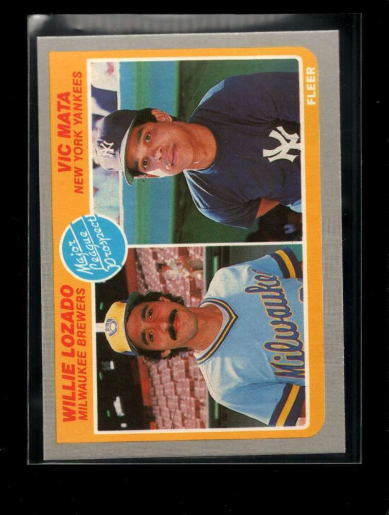 1985 FLEER #644 WILLIE LOZADO/VIC MATA NMMT RC ROOKIE PROSPECTS
