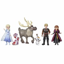 Disney Frozen Adventure Collection 5 Small Dolls from Frozen 2 Anna Elsa Kris... - $26.32
