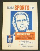 1958 Family Sports Fun 76 Sports Club #27 Bob Waterfield QB Book - $2.96