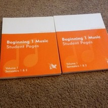 K 12 Beginning 1 Music Student Pages - Semester 1 And 2 - $10.04