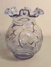 Fenton Art Glass LAVENDER Bow Drape Ruffled Top Vase - $19.75