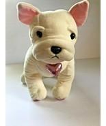 Martha Stewart for Macy's Dog Plush Cream Bulldog Pink Heart stuffed ani... - $28.93