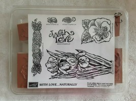 Stampin Up Stamp Set 2000 With Love Naturally New in Box Floral Designs - $14.84