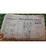 6439 Vintage Simplicity SEWING Pattern Coat Dress & coat 12 - $4.83
