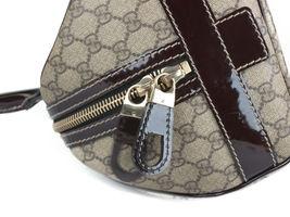 GUCCI GG Web PVC Canvas Patent Leather Browns Shoulder Bag GS2242 image 7