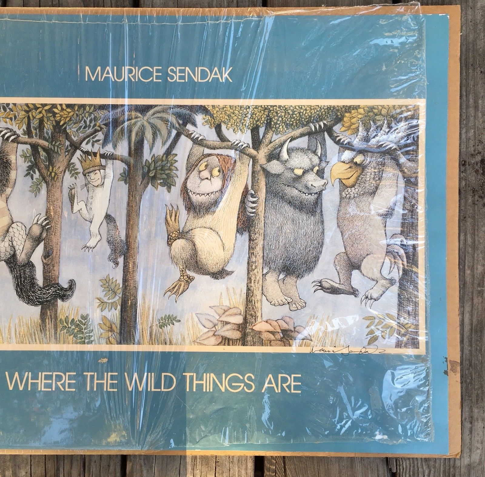 Maurice Sendak WHERE THE WILD THINGS ARE signed poster