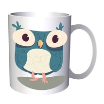Cute Smart Owl Funny  11oz Mug v701 - $10.83