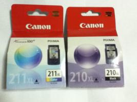 2-Pack Genuine Canon Ink Cartridges, PG210XL Black / CL211XL Color, NIB - $46.99